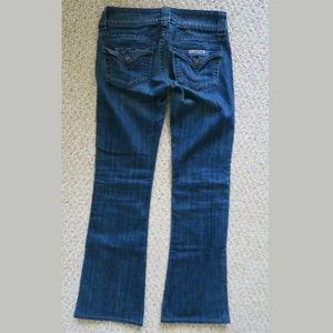 Hudson Jean's boot cut straight dark blue wash